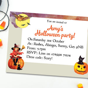 Children's Halloween Party Invitations - invitations