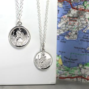 St Christopher Medal Necklace - jewellery gifts for her
