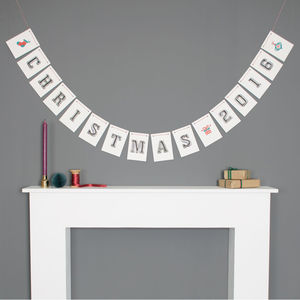 Personalised Christmas Bunting Decoration - home accessories