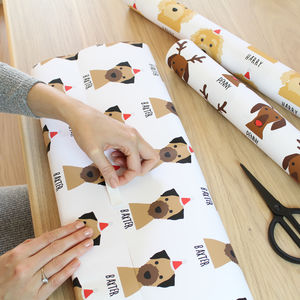 Personalised Christmas Dog Wrapping Paper - cards & wrap