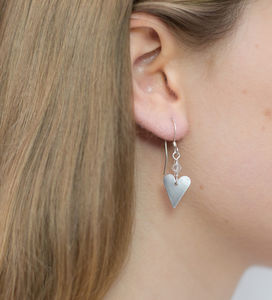 Heart Earrings With Crystal - earrings