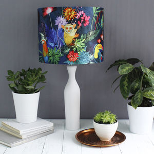 Tropical Animal Print Lampshade In Table Or Ceiling