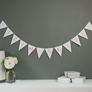 Team Bride Bunting - what's new