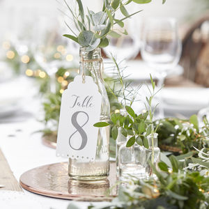 Large Luggage Tag Wedding Table Numbers - table numbers