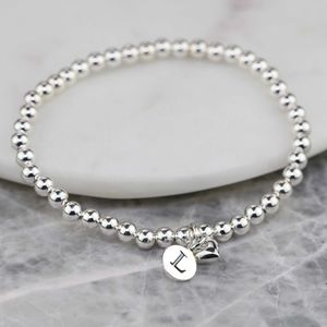 Personalised Mia Silver Heart Bracelet - flower girl jewellery