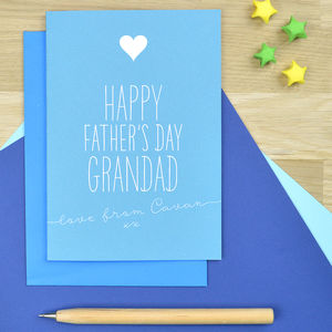 Personalised Father's Day Card For Grandad - cards for grandfathers