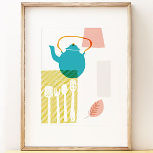 Blue Kettle Art Print