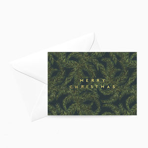 Tropical Palm Christmas Card