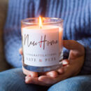 New Home Personalised Candle