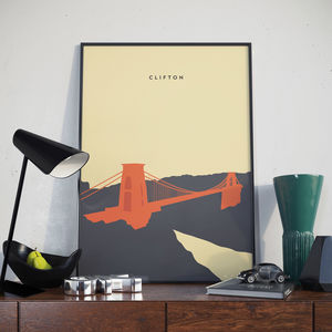 Bristol Poster. Clifton Suspension Bridge Poster