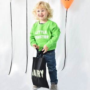 Halloween Personalised Trick Or Treat Bag - trick or treat bags