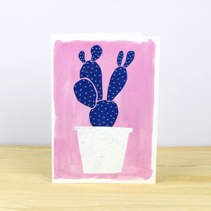Cactus Pot Plant No.One Greetings Card