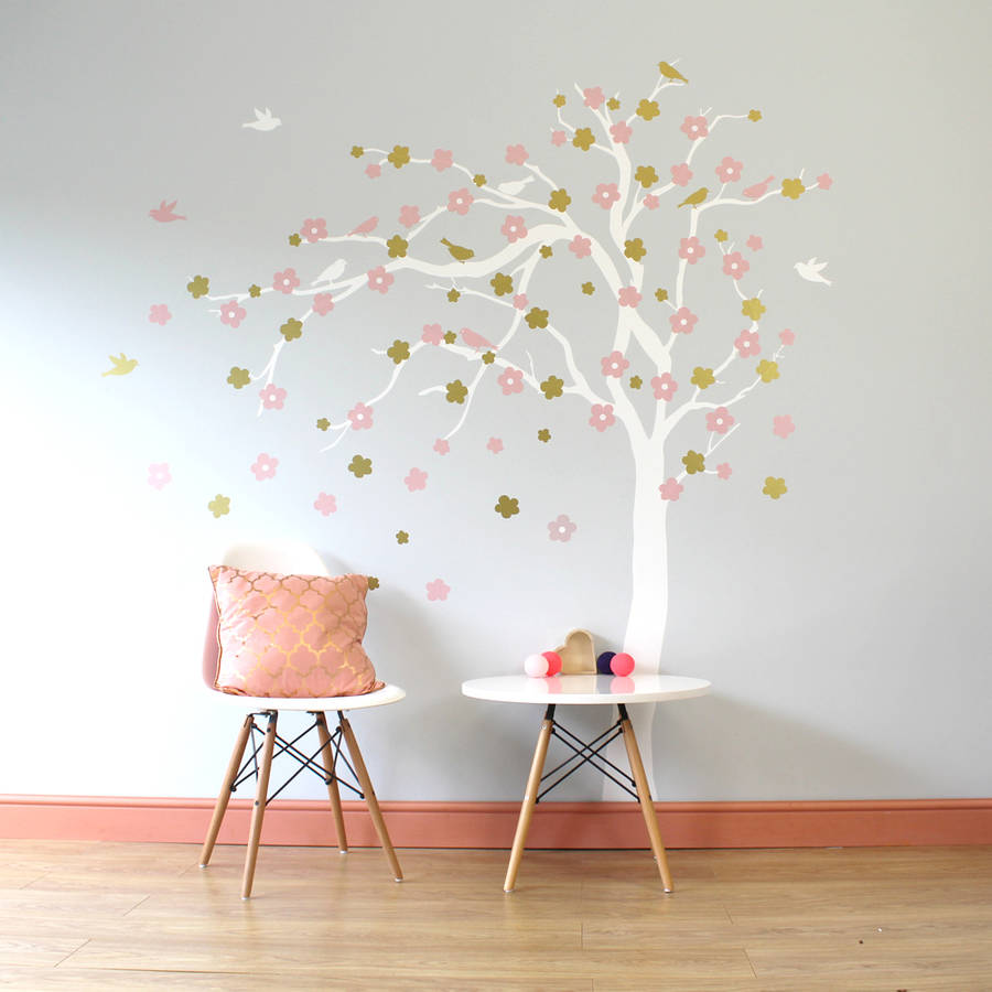 20 tree wall decor stickers boom met vogels en vlinders tree wall decor stickers by floral blossom tree wall stickers by parkins interiors amipublicfo Gallery