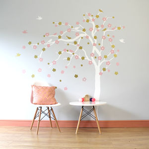 Floral Blossom Tree Wall Stickers - office & study