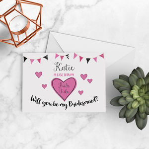 Will You Be My Bridesmaid Bride Tribe Card A5