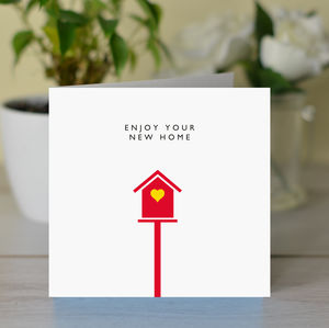 'Enjoy Your New Home' Card - new home cards