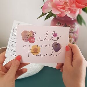 'Hello My Lovely Friend' Floral Friendship Postcard