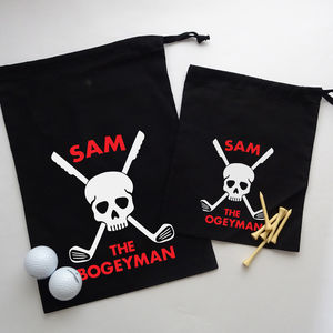 Personalised Golfers Bag 'Bogeyman'