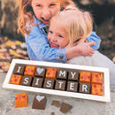 Personalised I Love My Sister Chocolate Gift