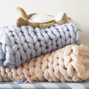 Super Chunky Knit Baby Blanket