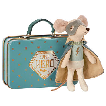 Super Hero Mouse Guardian In Suitcase