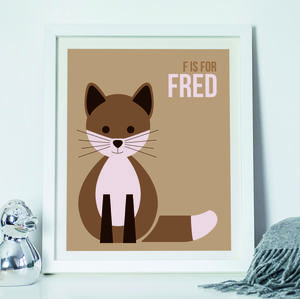 Personalised Alphabet 'F' Print