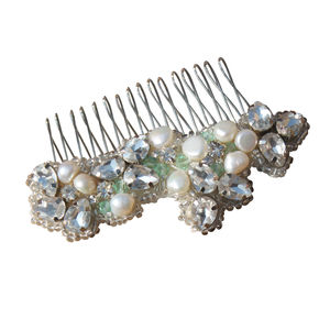 Bridal Hair Comb 'Ivy' Handbeaded Hair Piece