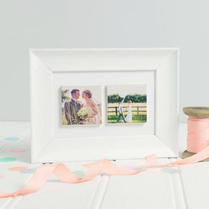 Personalised Wedding Anniversary Ceramic Tile Frame - photography & portraits