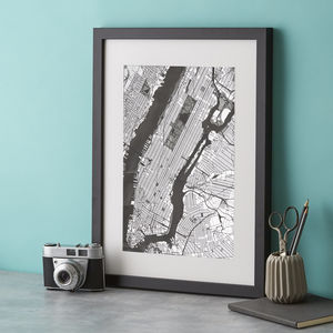 New York Silver Art Engraving - mixed media & collage