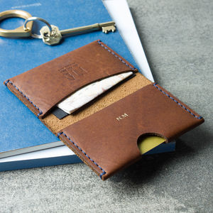 Personalised Leather Bi Fold Card And Note Wallet - personalised gifts