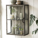 Metal And Glass Wall Cabinet