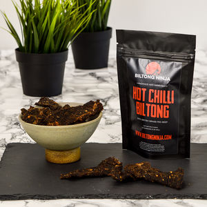 Biltong Hot Chilli Flavour Handcrafted Snap Sticks - food & drink