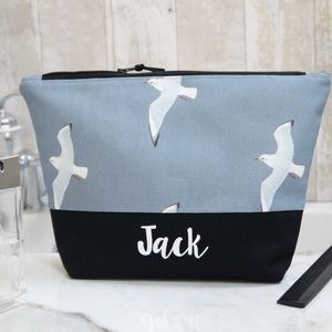 Personalised Seagull Wash Bag