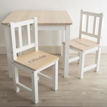 Personalised Table And Chairs Set