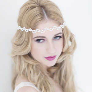 Elianne Bridal Halo Headdress - wedding fashion