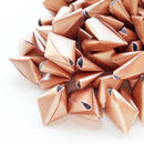 50 Metallic Rose Gold Origami Heart Love Messages