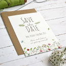 Personalised Wild Floral Save The Date