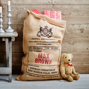 The Walpole Personalised Christmas Sack