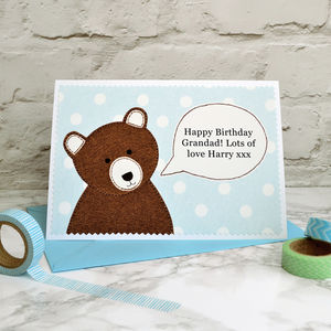 'Bear' Father's Day Card / Birthday Card - birthday cards