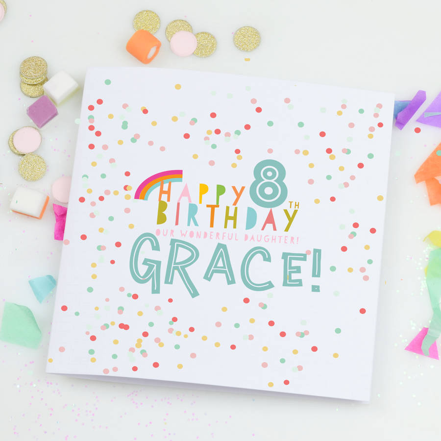 Personalised Children's Birthday Card 'Confetti'