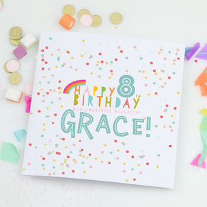 Personalised Children's Birthday Card 'Confetti' - children's birthday cards