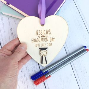 Personalised Girl's Graduation Heart