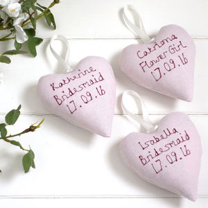 Personalised Flower Girl Heart - bedroom