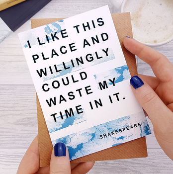 New Home Card 'I Like This Place' Shakespeare Quote