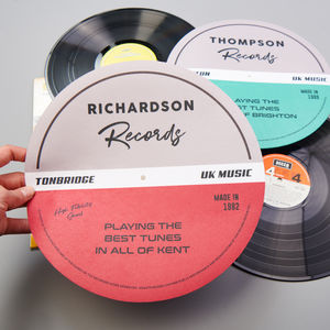 Personalised Vinyl Record Slipmat - music fans