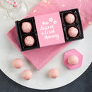 Personalised Prosecco Truffles, You Deserve A Treat