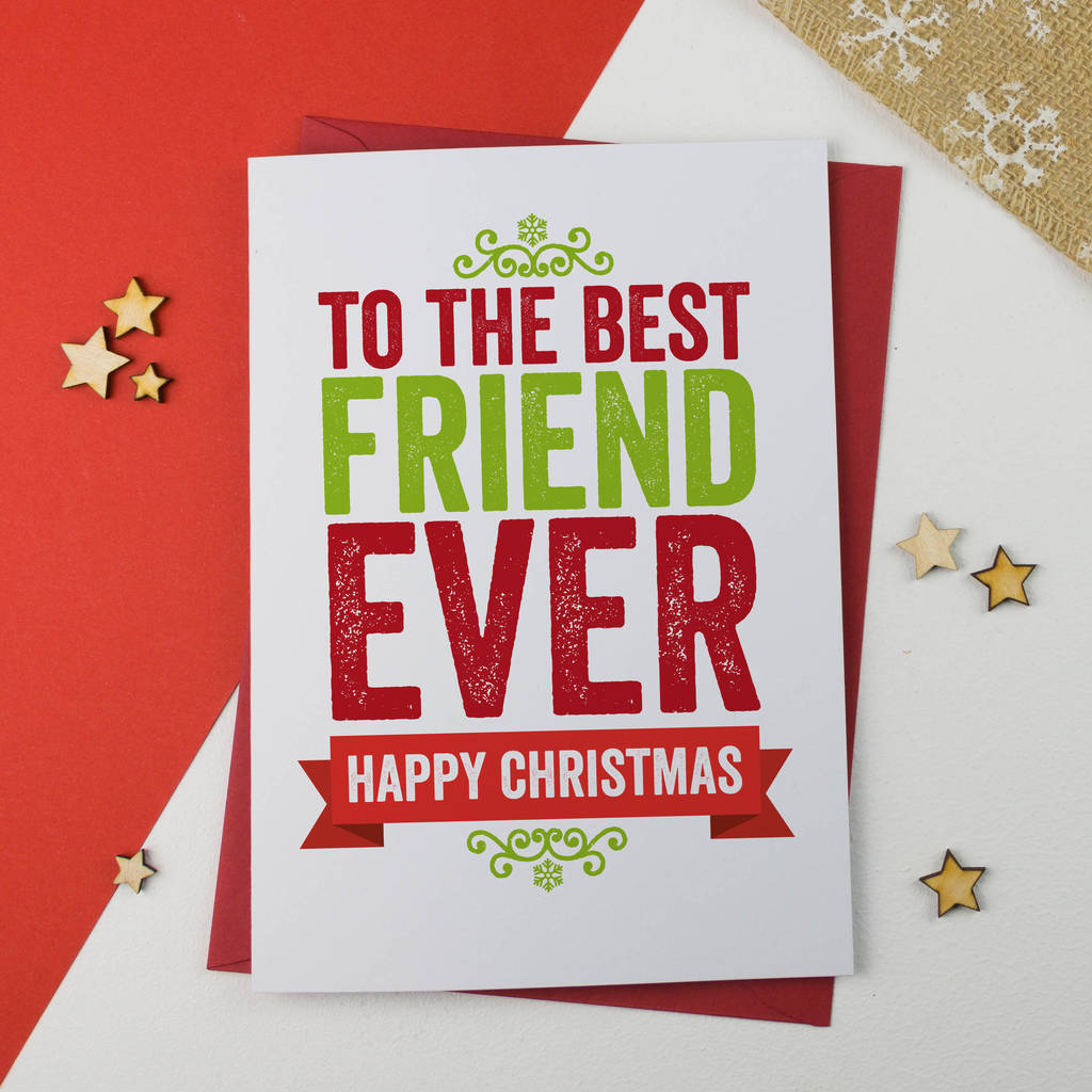 Best friend christmas card by a is for alphabet notonthehighstreet best friend christmas card m4hsunfo