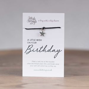 Little Wish 'Birthday' Star Wish Bracelet - bracelets & bangles