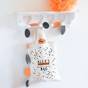 Personalised Halloween Bag 'Confetti' - children's accessories
