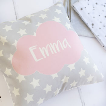 Personalised Pink Star Cushion